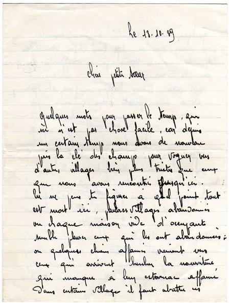 1939 Lettre Dandré à Sa Soeur
