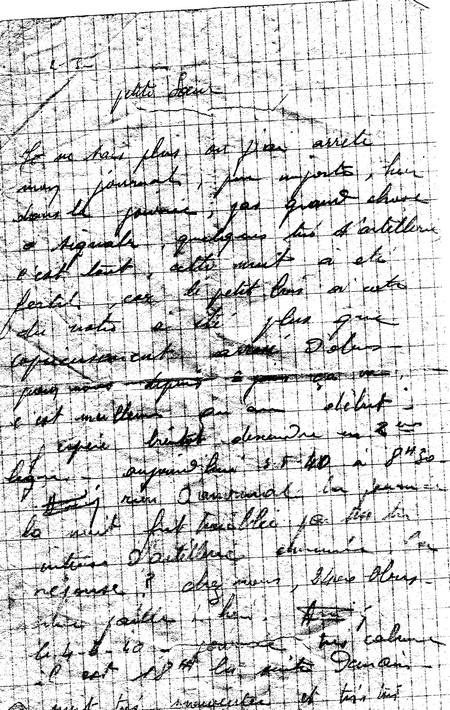 1940 Lettre Dandré à Sa Soeur